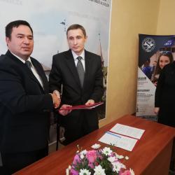 Підписали договір про науково-педагогічне співробітництво...